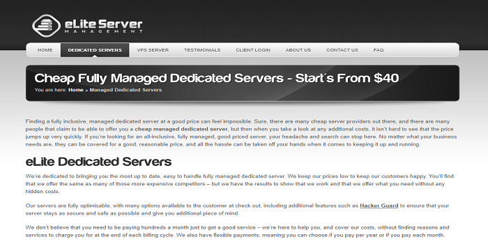 cheap managed dedicated server
