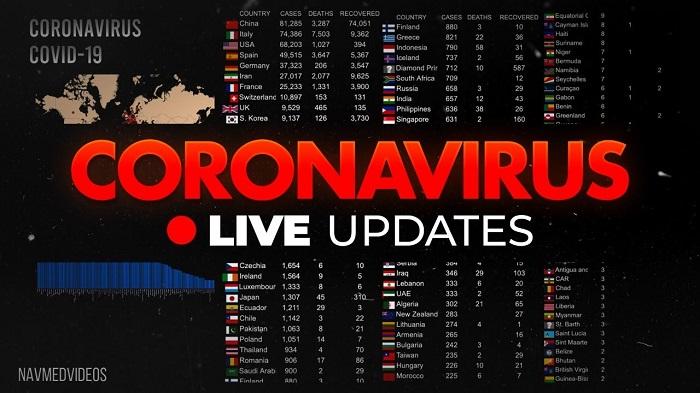 coronavirus livestream counter